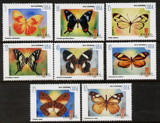Cuba 2012 Butterflies perf set of 8 unmounted mint