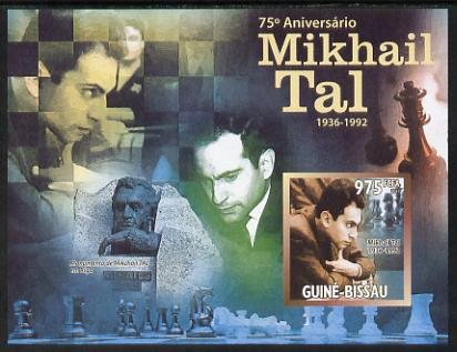Guinea - Bissau 2011 Chess - 75th Birth Anniversary of Mikhail Tal #1 imperf m/sheet unmounted mint. Note this item is privately produced and is offered purely on its thematic appeal