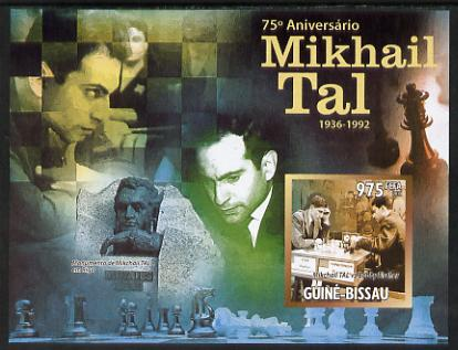 Guinea - Bissau 2011 Chess - 75th Birth Anniversary of Mikhail Tal #2 imperf m/sheet unmounted mint. Note this item is privately produced and is offered purely on its thematic appeal