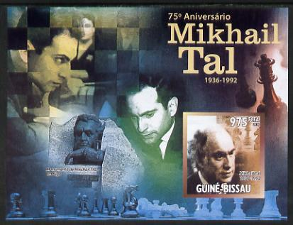 Guinea - Bissau 2011 Chess - 75th Birth Anniversary of Mikhail Tal #3 imperf m/sheet unmounted mint. Note this item is privately produced and is offered purely on its thematic appeal