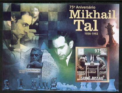 Guinea - Bissau 2011 Chess - 75th Birth Anniversary of Mikhail Tal #4 imperf m/sheet unmounted mint. Note this item is privately produced and is offered purely on its thematic appeal