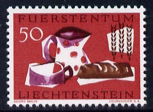 Liechtenstein 1963 Freedom from Hunger 50r unmounted mint, SG 423