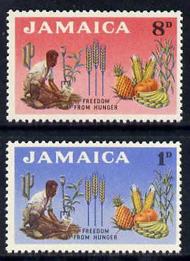 Jamaica 1963 Freedom from Hunger set of 2 unmounted mint, SG 201-02