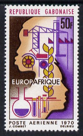 Gabon 1970 Europafrique Air 50f unmounted mint, SG 381
