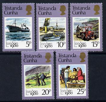 Tristan da Cunha 1980 London 1980 Stamp Exhibition set of 5 unmounted mint, SG 277-81