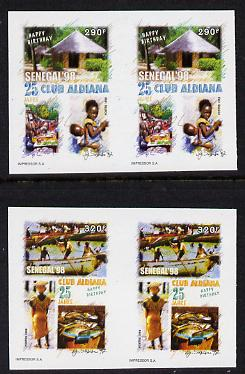 Senegal 1998 25th Anniv of Aldiana Club set of 2 in imperforate pairs unmounted mint as SG 1504-05