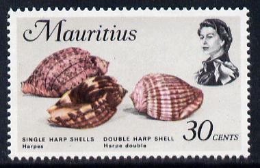 Mauritius 1972-74 Harp Shells 30c unmounted mint, SG 445