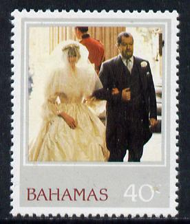 Bahamas 1982 Princess Di's 21st Birthday 40c unmounted mint with wmk inverted (SG 624Ei)