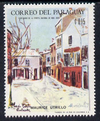 Paraguay 1968 Winter Olympics - Impressionist Paintings - Maurice Utrillo 15c unmounted mint, Mi 1815