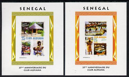 Senegal 1998 25th Anniv of Aldiana Club set of 2  imperforate m/sheets unmounted mint