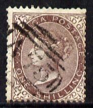 Jamaica 1860-70 1s purple-brown used, few nibbled perfs, SG 6a