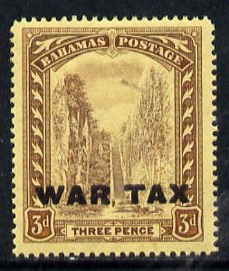 Bahamas 1918 Staircase War Tax 3d unmounted mint SG 98*