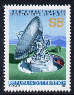Austria 1980 Inauguration of Aflenz Satellite Communications Earth Station unmounted mint, SG 1874