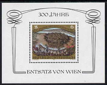 Austria 1983 300th Anniv of Relief of Vienna sheetlet unmounted mint, SG MS1974