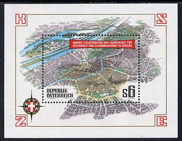 Austria 1986 European Security & Co-operation Conference Review Meeting sheetlet unmounted mint, SG MS2110
