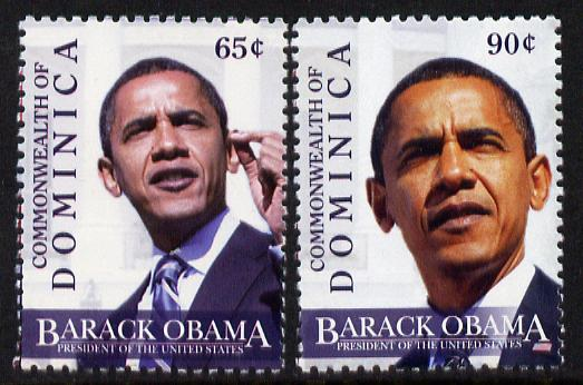 Dominica 2009 Inauguration of Pres Barack Obama set of 2 unmounted mint, SG 3632-33