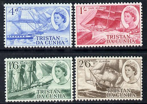 Tristan da Cunha 1969 Clipper Ships set of 4 unmounted mint SG 121-4