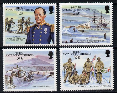 British Antarctic Territory 1987 75th Anniversary of Arrival of Captain Scott set of 4 unmounted mint SG 155-58