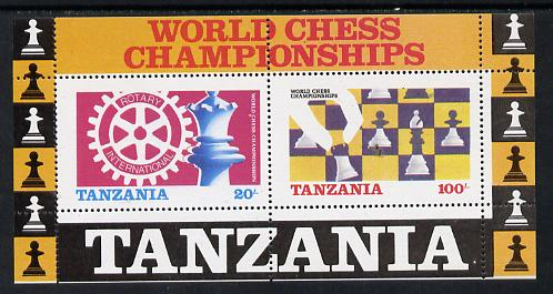 Tanzania 1986 World Chess/Rotary perf m/sheet unmounted mint SG MS 463