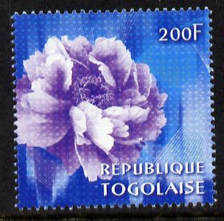Togo 2009 China World Stamp Exhibition - 200F Peony unmounted mint