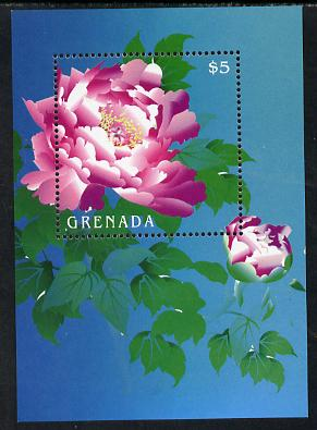 Grenada 2009 China World Stamp Exhibition $5 Pink Peony m/sheet unmounted mint SG MS 5426