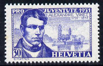 Switzerland 1931 Pro Juventute - Alexandre Vinet 30c unmounted mint SG J59