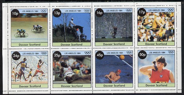 Davaar Island 1984 Los Angeles Olympic Games perf  set of 8 values (10p to 50p) unmounted mint