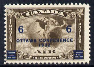 Canada 1932 Ottawa Conference 6c on 5c Air unmounted mint SG 318