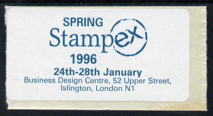 Cinderella - Great Britain 1996 Spring Stampex self adhesive Exhibition label