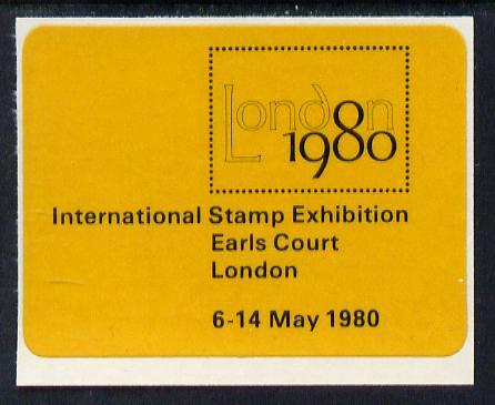Cinderella - Great Britain 1980 London 1980 International Stamp Exhibition self adhesive label