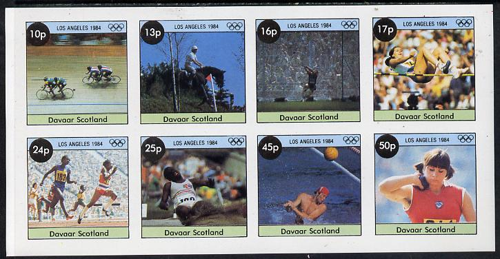 Davaar Island 1984 Los Angeles Olympic Games imperf  set of 8 values (10p to 50p) unmounted mint