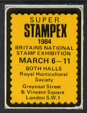 Cinderella - Great Britain 1984 Super Stampex self adhesive Exhibition label