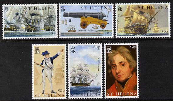 St Helena 2005 Bicentenary of Battle of Trafalgar - 1st issue perf set of 6 unmounted mint SG 939-44