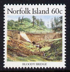 Norfolk Island 1987 Bloody Bridge 60c unmounted mint SG 414
