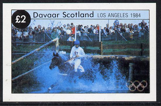 Davaar Island 1984 Los Angeles Olympic Games imperf deluxe sheet (�2 value showing 3-day Eventing) unmounted mint