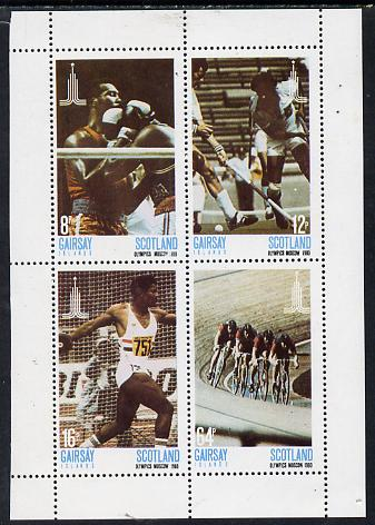 Gairsay 1980 Moscow Olympic Games perf  set of 4 values (8p to 64p) unmounted mint