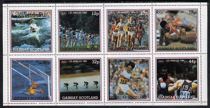 Gairsay 1984 Los Angeles Olympic Games perf  set of 8 values (11p to 44p) unmounted mint