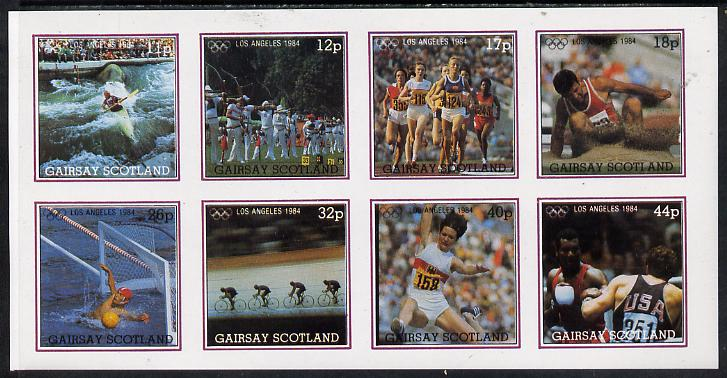 Gairsay 1984 Los Angeles Olympic Games imperf  set of 8 values (11p to 44p) unmounted mint