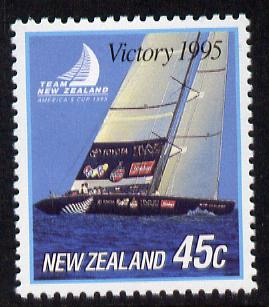 New Zealand 1995 New Zealand's Victory in America's Cup 45c unmounted mint