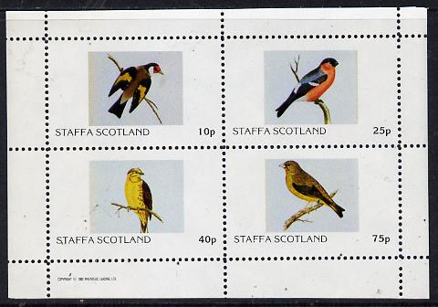 Staffa 1982 Finches perf  set of 4 values (10p to 75p) unmounted mint