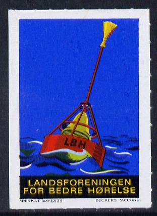 Cinderella - Denmark label for National Association for Better Hearing showing a Life Bouy unmounted mint