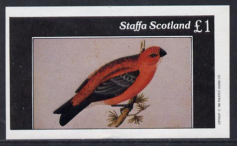 Staffa 1982 Finches imperf souvenir sheet (�1 value) unmounted mint