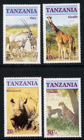 Tanzania 1986 Endangered Animals  set of 4 unmounted mint, SG 479-82