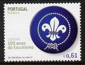 Portugal - Madeira 2007 Europa - Centenary of Scouting 61c unmounted mint SG 389