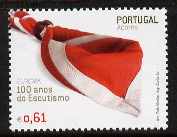 Portugal - Azores 2007 Europa - Centenary of Scouting 61c unmounted mint SG 624