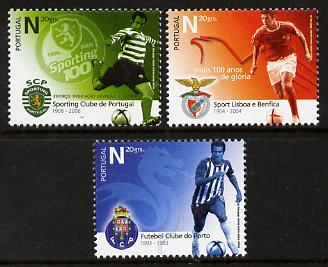 Portugal 2006 Football Clubs Centenaries perf set of 3 unmounted mint SG 3302-4