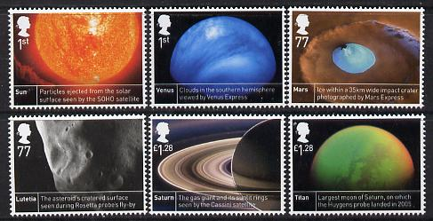 Great Britain 2012 50th Anniversary of launch of Ariel 1 Satellite perf set of 6 values unmounted mint