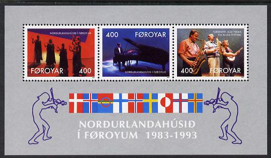 Faroe Islands 1993 Tenth Anniversary of  Nordic House (Jazz Festival) perf m/sheet unmounted mint SG MS 238