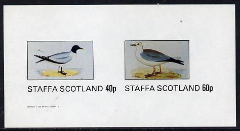 Staffa 1982 Birds #07 (Gulls) imperf  set of 2 values (40p & 60p) unmounted mint