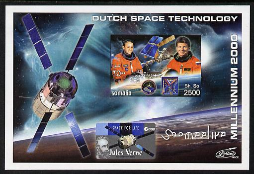 Somalia 2004 Dutch Space Technology #1 imperf m/sheet unmounted mint. Note this item is privately produced and is offered purely on its thematic appeal
